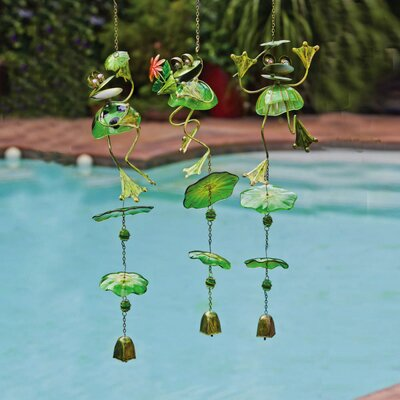 Playful Frogs Wind Chime by Evergreen Flag & Garden