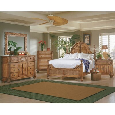 Progressive Furniture Inc. Palm Court 8 Drawer Combo Dresser with Mirror