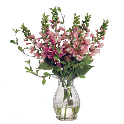Foxgloves in Petal Glass Vase by Jane Seymour Botanicals