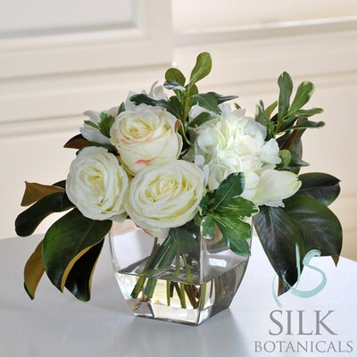 Jane Seymour Botanicals Mixed Bouquet in Glass Vase