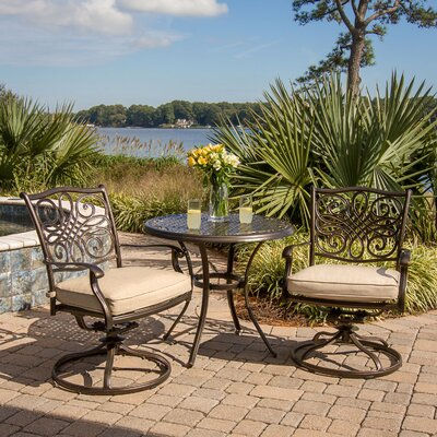 Traditions 3 Piece Bistro Set with Cushions by Hanover