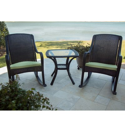 Orleans 3 Piece Rocker Seating Group with Cushion by Hanover