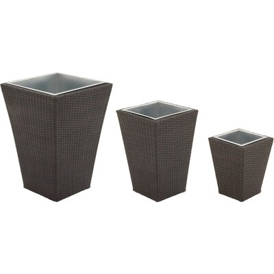 3 Piece Square Planter Set by Hanover
