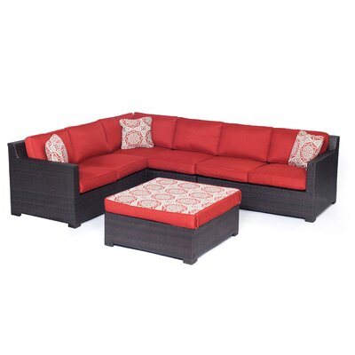Metropolitan 5 Piece Lounge Seating Group by Hanover