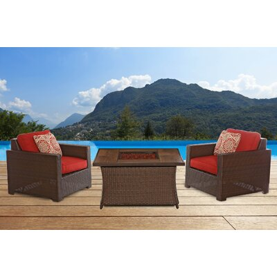 Metropolitan 3 Piece Deep Seating Group with Cushion by Hanover