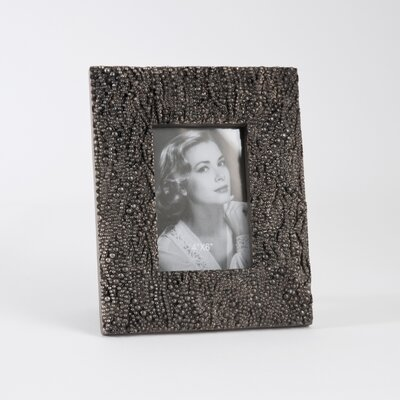 Beaded Photo Picture Frame by Saro