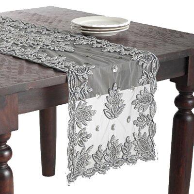 Lakshmi Hand Beaded Design Table Runner by Saro