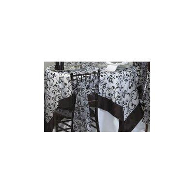 Saro Flocked Table Cloth