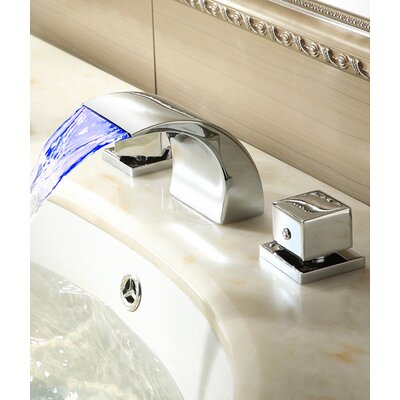 Double Handles Deck Mount Tub Faucet Product Photo