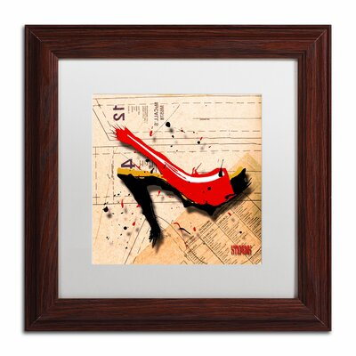 'Suede Heel Red' by Roderick Stevens Framed Graphic Art by Trademark Art