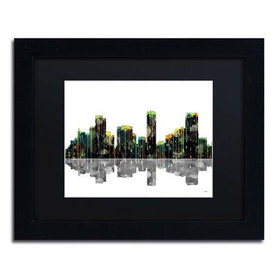 Denver Colorado Skyline by Marlene Watson Framed Graphic Art by Trademark Art