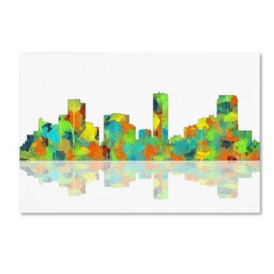 Denver Colorado Skyline II by Marlene Watson Graphic Art on Wrapped Canvas by Trademark Art ...
