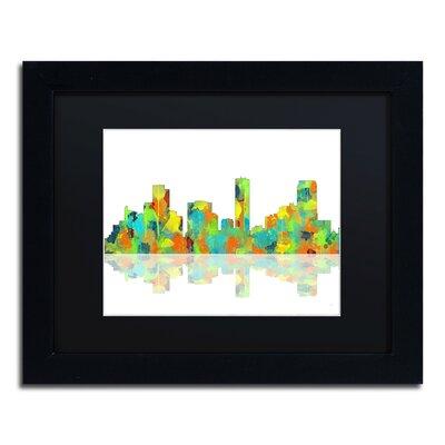 Denver Colorado Skyline II by Marlene Watson Framed Graphic Art by Trademark Art