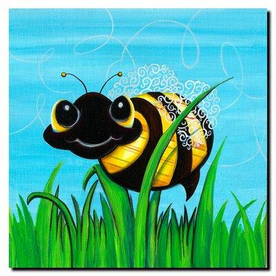 Trademark Fine Art Bee at Play by Sylvia Masek Canvas Art