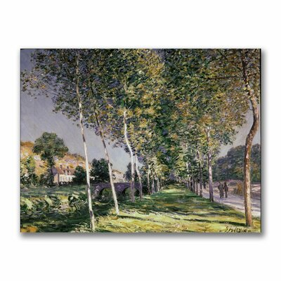 "Trademark Fine Art ""The Walk"" by Alfred Sisley Painting Print on Canvas"