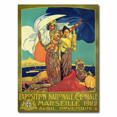 """Trademark Fine Art """"Expocision National Coloniale"""" by David Dellepiane Vintage Advertisement on Canvas"""