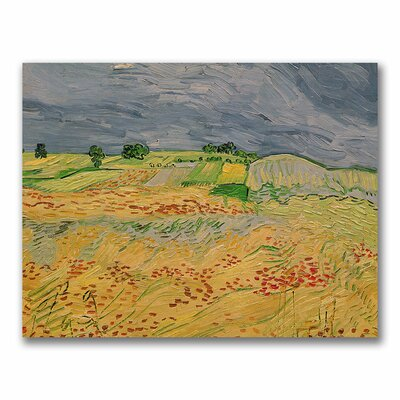 """Trademark Fine Art """"Plain at Auvers, 1890"""" by Vincent Van Gogh Painting Print on Wrapped Canvas"""