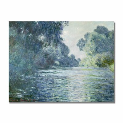 """Trademark Fine Art """"Branch of the Seine Near Giverny"""" Painting Print on Canvas by Claude Monet"""