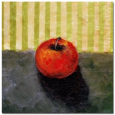 'Red Apple Still Life' by Michelle Calkins Painting Print on Canvas by Trademark Art
