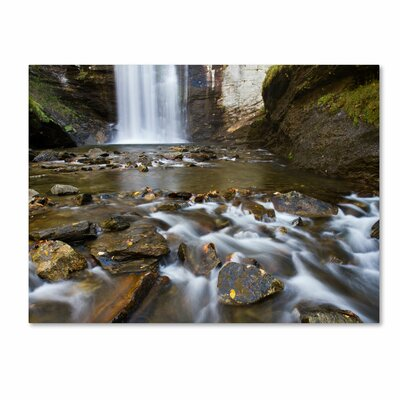 Trademark Fine Art 'Looking Glass Falls' by Pierre Leclerc Photographic Print on Canvas