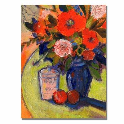 Trademark Fine Art 'Orange Wild Flowers' by Sheila Golden Painting Print on Canvas