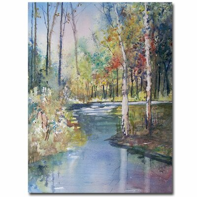 Trademark Fine Art 'Hartman Creek Birches' by Ryan Radke Painting Print on Wrapped Canvas