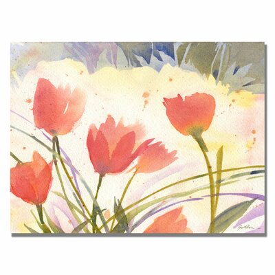 'Spring Song' by Sheila Golden Painting Print on Wrapped Canvas by Trademark Art