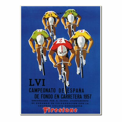 Trademark Fine Art 'Campeonato de Espana' Vintage Advertisement on Wrapped Canvas
