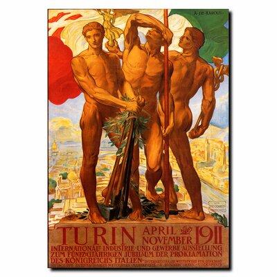 "Trademark Fine Art ""Turin 1911"" by Adolfo Carolis Vintage Advertisement on Wrapped Canvas"