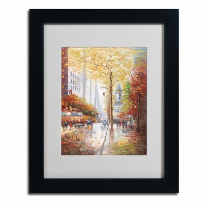 "Trademark Fine Art ""French Street Scene II"" by Joval Framed Painting Print"