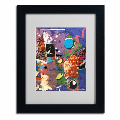 """Trademark Fine Art """"Urban Collage II"""" by Miguel Paredes Matted Framed Graphic Art"""