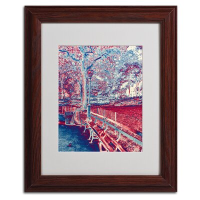 "Trademark Fine Art ""Red Blue I"" by Miguel Paredes Framed Graphic Art"