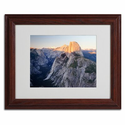 "Trademark Fine Art ""Half Dome Yosemite"" by Pierre Leclerc Framed Photographic Print"