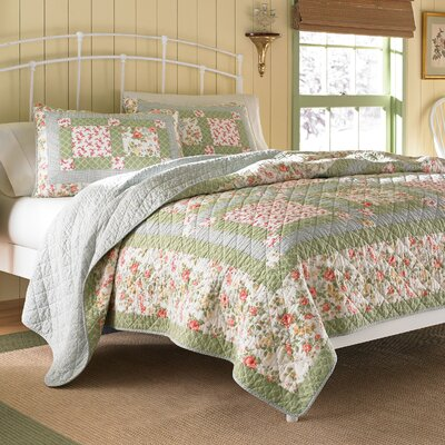 Abbot Cotton Quilt by Laura Ashley Home