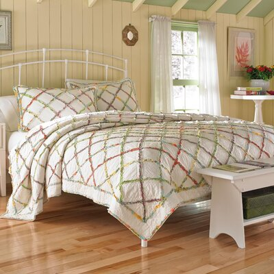 Ruffled Garden Cotton Quilt by Laura Ashley Home