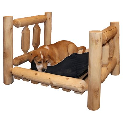 Picture of dog on a log dog bed