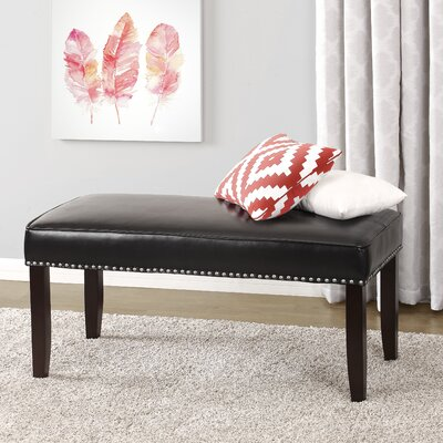 Dorel Rowan Nailhead Trim Upholstered Bedroom Bench