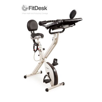 FitDesk X2.0 Semi Recumbent Bike with Desk
