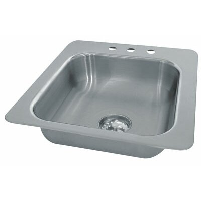 Advance Tabco Single Seamless Bowl 1 Compartment Drop-in Hand Sink
