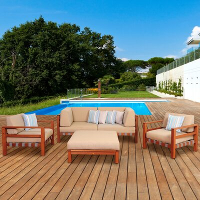 Amazonia Sobe 5 Piece Deep Seating Group with Cushions by International Home Miami