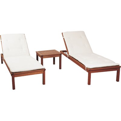 International home miami amazonia chicago 3 piece chaise for Chaise lounge chicago