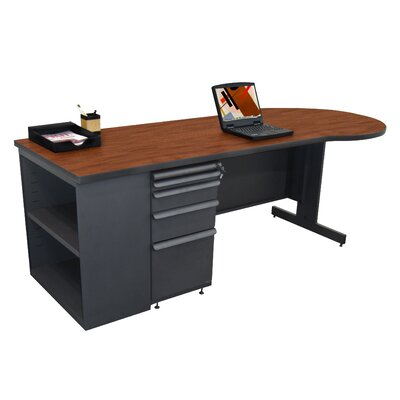 Marvel Office Furniture Zapf Teachers Computer Desk with Bookcase