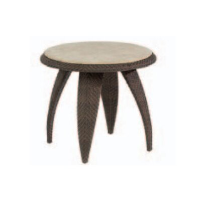 Bali End Table with Stone Top by Whitecraft