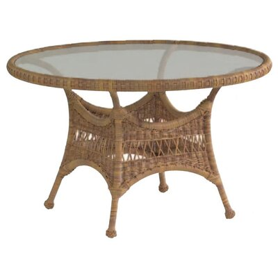 Sommerwind Round Dining Table with Glass Top by Whitecraft
