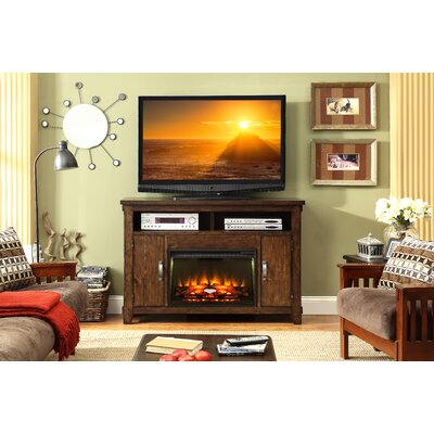 Restoration TV Stand with Electric Fireplace by Legends Furniture
