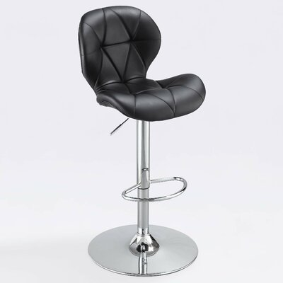 Rollen Gas Lift Adjustble Height Swivel Bar Stool with Cushion by Whalen Furniture