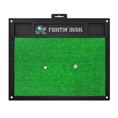 Collegiate Notre Dame Golf Hitting Doormat by FANMATS