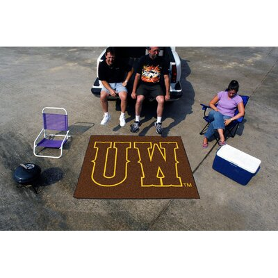 Collegiate University of Wyoming Tailgater Outdoor Area Rug by FANMATS