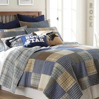 Rock On 3 Piece Full/Queen Quilt Set by Levtex Home