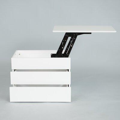 Matrix Kompany White Lacquer Lift Top Nightstand Side